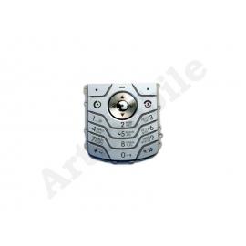 Клавиатура Motorola L6, серебристая, с русскими буквами