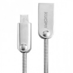 Кабель Kucipa K131-Micro 2в1 (Android/iOS) SILVER Lightning to USB