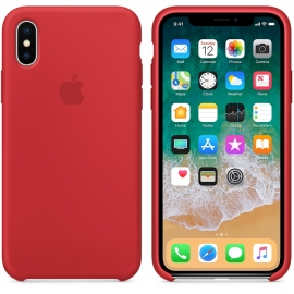Чехол Apple iPhone X Silicone Case (OEM) - (PRODUCT) RED