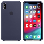Силиконовый чехол Apple Silicone Case Midnight Blue для iPhone XS Max