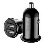 Зарядное устройство Baseus Grain Pro Car Charger (Dual USB 4.8A ) Black (CCALLP-01)